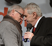 Ladislav Kerndl, Miloš Zeman, photo: CTK