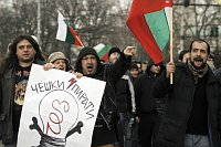 Bulgarians protest against higher electricity bills, photo: CTK