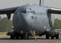 Boeing C-17A of the US Air Force in Mali, photo: CTK