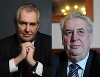 Miloš Zeman, new official portrait on the left, photo: CTK