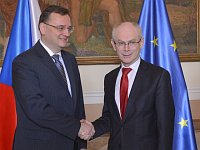 Petr Neas, Herman Van Rompuy, photo: CTK