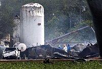 Továrna na hnojiva po explozi, foto: ČTK