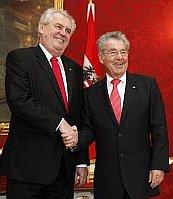 Miloš Zeman, Heinz Fischer, photo: CTK