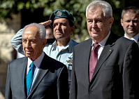 Shimon Peres, Miloš Zeman, photo: CTK