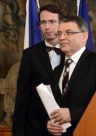 Petr Drulák, Lubomír Zaorálek, photo: CTK