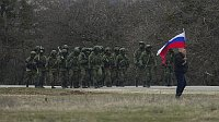 Russian soldiers in Perevalne, Ukraine, March 2, 2014, photo: CTK