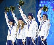 Veronika Vítková, Gabriela Soukalová, Jaroslav Soukup, Ondřej Moravec, photo: CTK