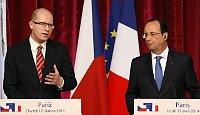 Bohuslav Sobotka, Francois Hollande, photo: CTK