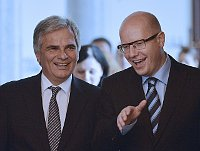 Werner Faymann and Bohuslav Sobotka, photo: ČTK
