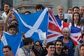Supporters wave British and Scottish flags at a pro-union rally, at Trafalgar square in London, photo: CTK