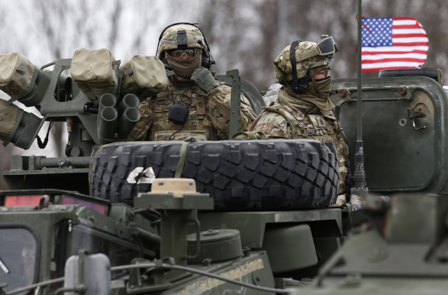 US Army's 2nd Cavalry Regiment during the military exercise in Lithuania, photo: CTK