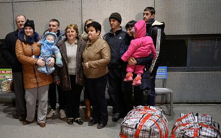 Erste Aussiedler aus der Ukraine sind in Tschechien angekommen (Foto: ČTK)