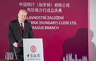 Miloš Zeman at the official ceremony for the Czech launch of Bank of China, photo: CTK