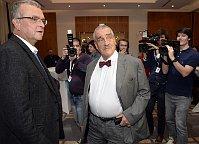 Miroslav Kalousek et Karel Schwarzenberg, photo: ČTK