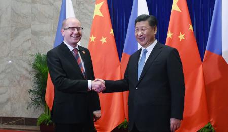 Bohuslav Sobotka, Chinese President Xi Jinping, photo: CTK