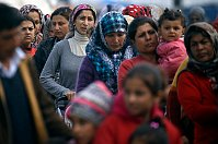 Migrants at a makeshift camp in Idomeni, Greece, April 23, 2016, photo: CTK