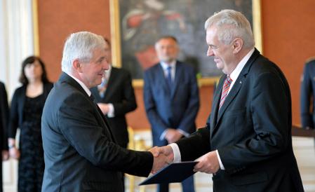 Jiří Rusnok, Miloš Zeman, photo: CTK