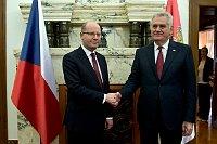 Bohuslav Sobotka et Tomislav Nikolic, photo: ČTK