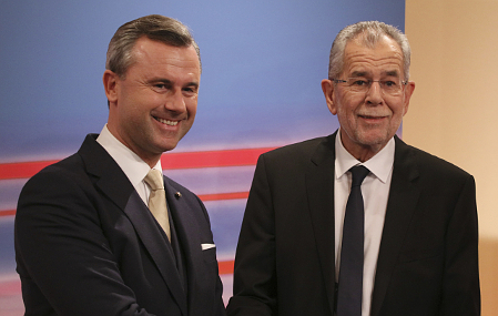 Norbert Hofer et Alexander Van der Bellen, photo: ČTK