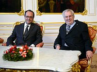 Francois Hollande, Miloš Zeman, photo: CTK