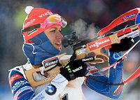 Gabriela Koukalová im Sprint (Foto: ČTK)