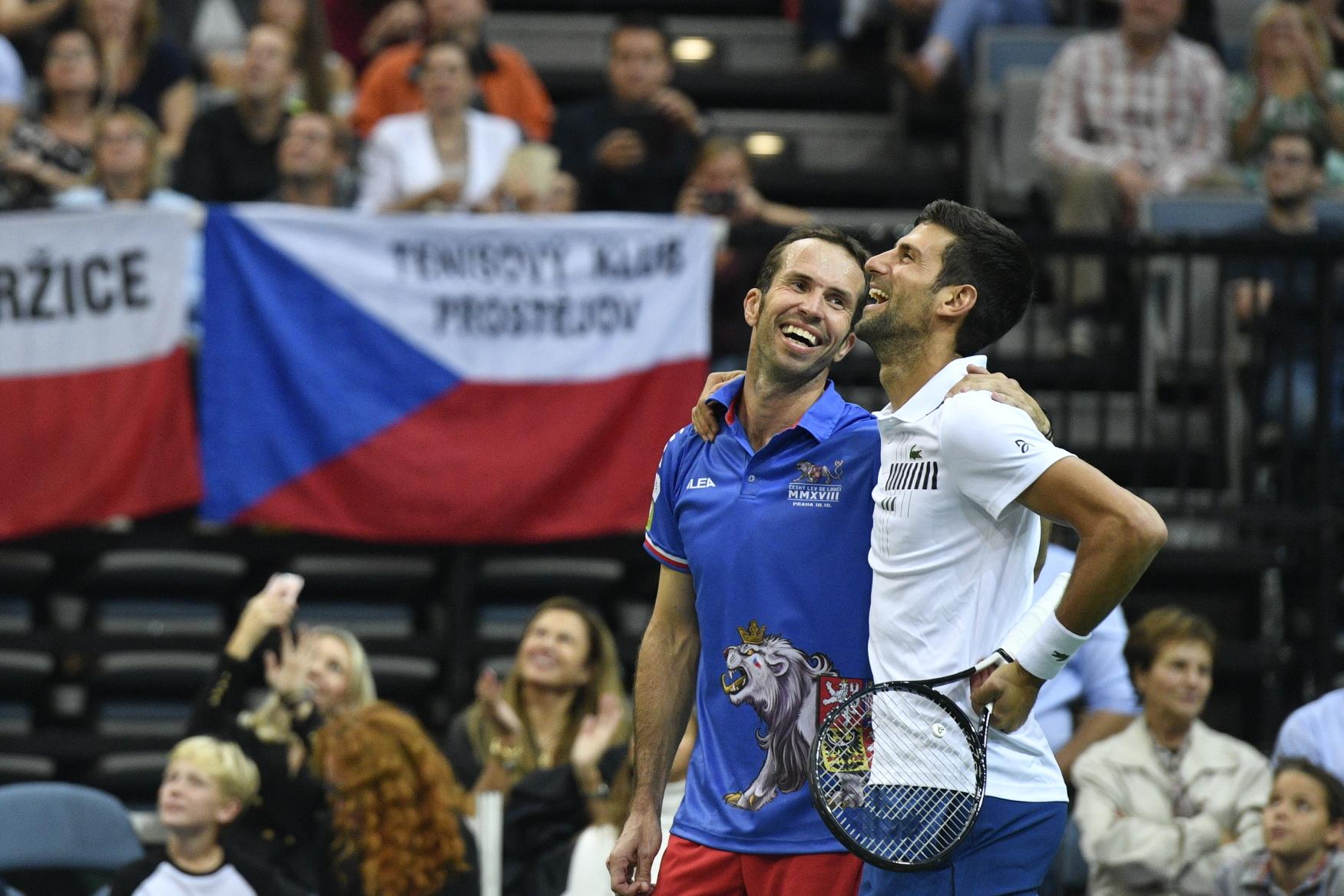 Radek Štěpánek and Novak Djokovič, photo: Michal Kamaryt/ČTK