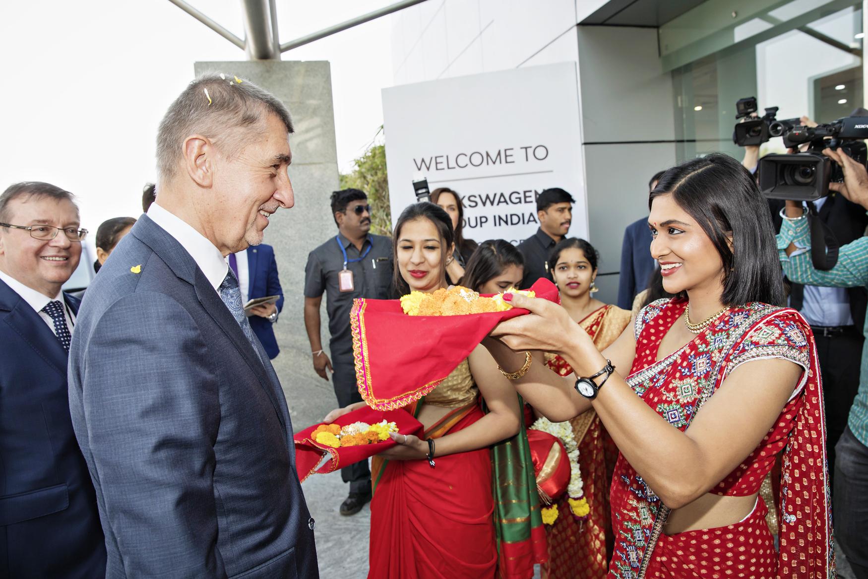 Andrej Babiš in Indien (Foto: ČTK / Martin Štěrba)