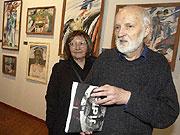Jan Svankmajer con su esposa Eva, foto: CTK
