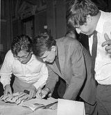 Le IVème Congrès des écrivains - Ludvik Vaculik, Milan Kundera et Ivan Klima, juin 1967, photo: CTK