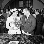 Olga Fikotová and Harold Connolly, the wedding in Prague, 1957, photo: CTK