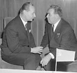 Александр Дубчек на переговорах с Брежневым (Фото: ЧТК)