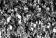 Demonstranti vPraze 21.srpna 1969, foto: ČTK