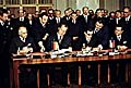 Unterzeichnung des Prager Vertrags (Foto: ČTKL)
