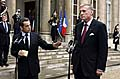 Nicolas Sarkozy et Mirek Topolnek, photo: CTK