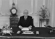 Gustáv Husák, 1. 1. 1989 (Foto: ČTK)