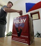 Schülerwahlen im Gymnasium Postupická in Prag (Foto: ČTK)