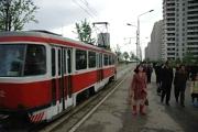 Czech tram in Pyongyang, photo: www.pyongyang-metro.com