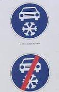 Neues Verkehrszeichen 'Winterausrüstung'