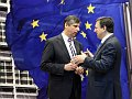 Jan Fischer et Jos Manuel Barroso, photo: www.eu2009.cz
