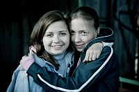 Masha Drokova with her sister, photo: Made in Copenhagen