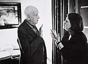 Anna Fárová with Henri Cartier-Bresson, photo: Jindřich Streit