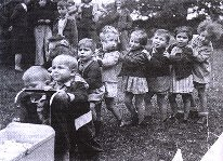 some of the children playing