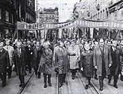 1.máj 1968 - uprostřed prezident Ludvík Svoboda a Alexandr Dubček