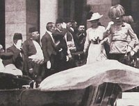 Archduke Franz Ferdinand and Sophie Chotek before the assassination