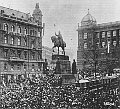 Wenceslas square, Prague, October 28, 1918