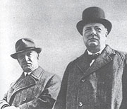 Prezident Edvard Beneš sWinstonem Churchillem