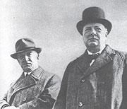 Edvard Beneš avec Winston Churchill