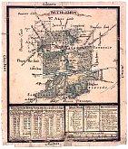 La carte de Bethlehem par Philipp Christian Gottlieb, 1758, www.moravianchurcharchives.org