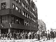 Czech Radio building during the Prague Uprising
