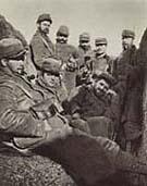 Soldados checos durante la Primera Guerra Mundial en Francia